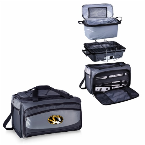 Missouri Tigers - Portable Charcoal Grill & Cooler Tote Perspective: top