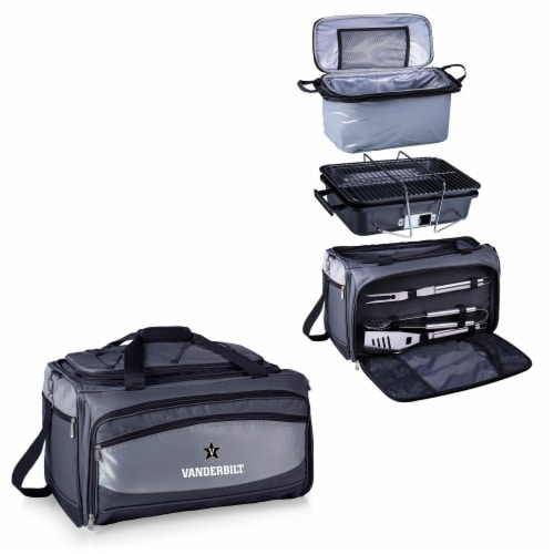 Vanderbilt Commodores - Portable Charcoal Grill & Cooler Tote Perspective: top