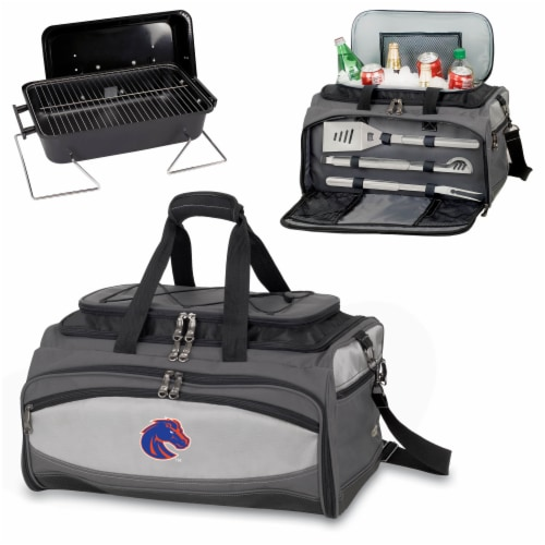 Boise State Broncos - Portable Charcoal Grill & Cooler Tote Perspective: top