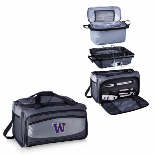 Washington Huskies - Portable Charcoal Grill & Cooler Tote Perspective: top
