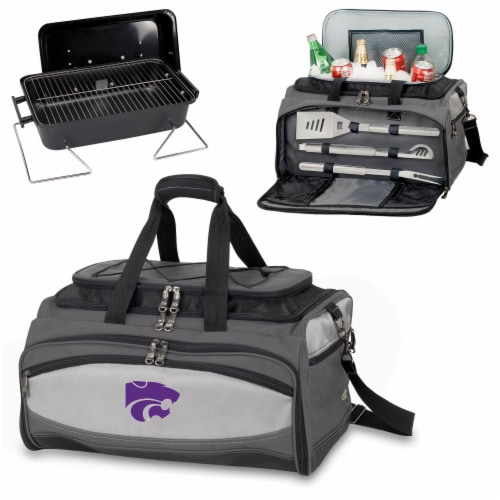 Kansas State Wildcats - Portable Charcoal Grill & Cooler Tote Perspective: top