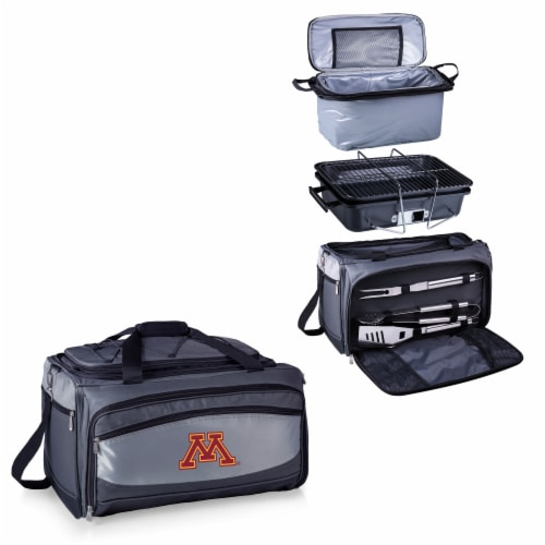 Minnesota Golden Gophers - Portable Charcoal Grill & Cooler Tote Perspective: top