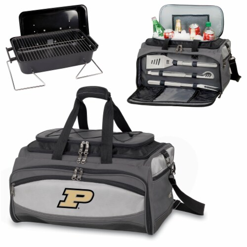 Purdue Boilermakers - Portable Charcoal Grill & Cooler Tote Perspective: top