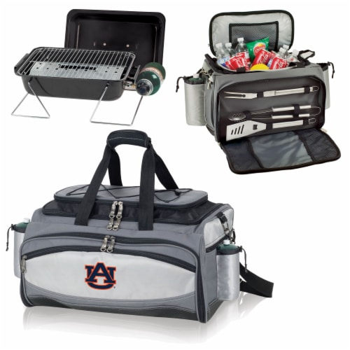 Auburn Tigers - Vulcan Portable Propane Grill & Cooler Tote Perspective: top