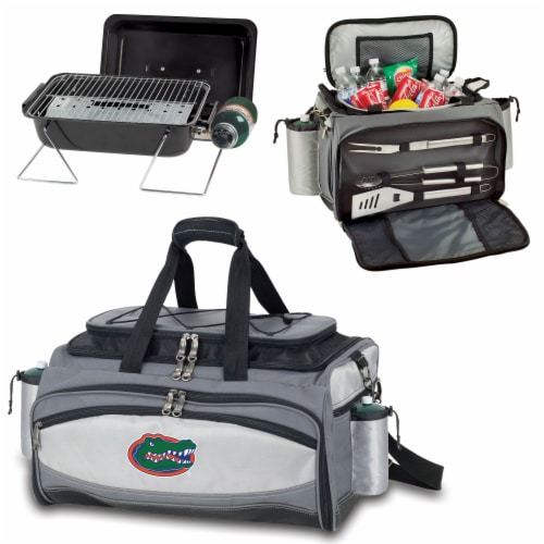 Florida Gators - Vulcan Portable Propane Grill & Cooler Tote Perspective: top