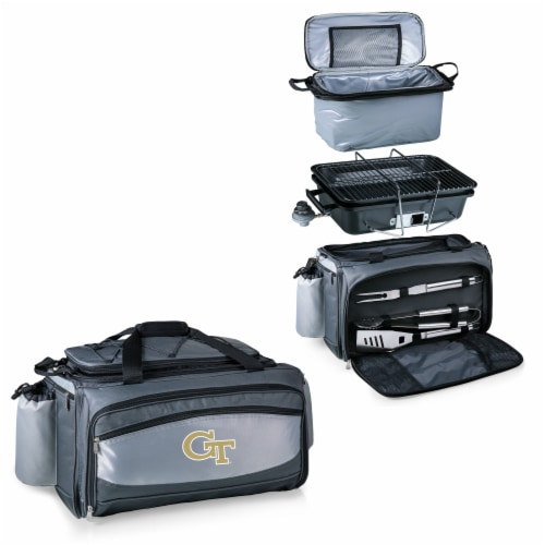 Georgia Tech Yellow Jackets - Vulcan Portable Propane Grill & Cooler Tote Perspective: top
