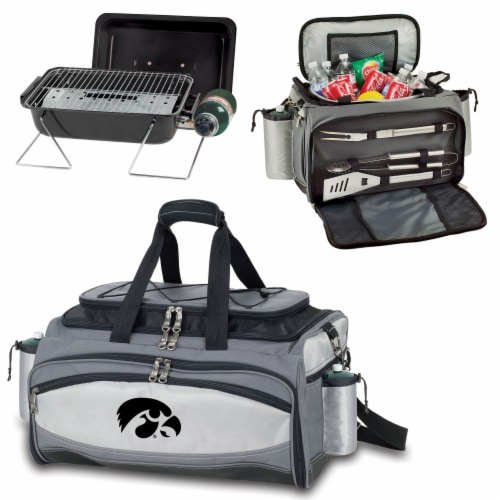 Iowa Hawkeyes - Vulcan Portable Propane Grill & Cooler Tote Perspective: top