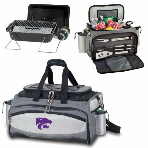 Kansas State Wildcats - Vulcan Portable Propane Grill & Cooler Tote Perspective: top