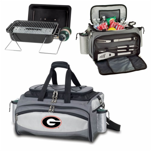 Georgia Bulldogs - Vulcan Portable Propane Grill & Cooler Tote Perspective: top