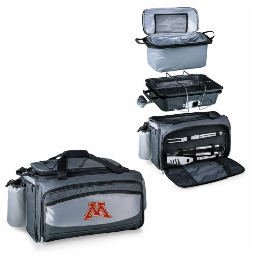 Minnesota Golden Gophers - Vulcan Portable Propane Grill & Cooler Tote Perspective: top