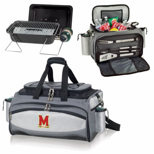 Maryland Terrapins - Vulcan Portable Propane Grill & Cooler Tote Perspective: top