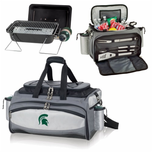 Michigan State Spartans - Vulcan Portable Propane Grill & Cooler Tote Perspective: top