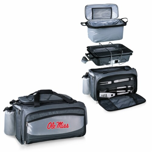 Ole Miss Rebels - Vulcan Portable Propane Grill & Cooler Tote Perspective: top