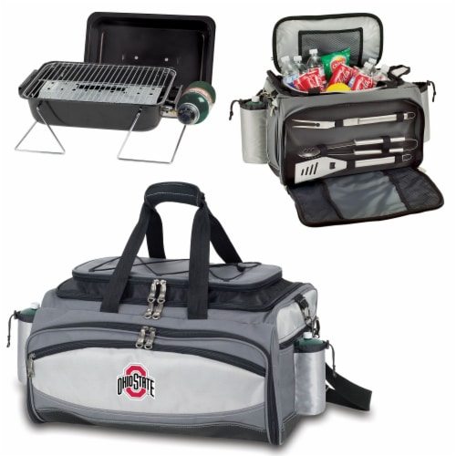 Ohio State Buckeyes - Vulcan Portable Propane Grill & Cooler Tote Perspective: top
