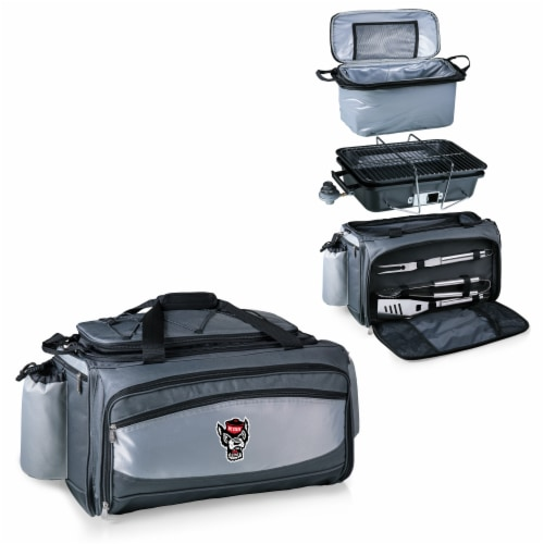 NC State Wolfpack - Vulcan Portable Propane Grill & Cooler Tote Perspective: top