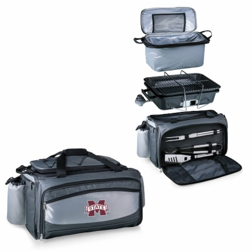 Mississippi State Bulldogs - Vulcan Portable Propane Grill & Cooler Tote Perspective: top