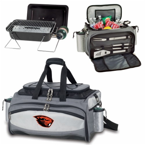 Oregon State Beavers - Vulcan Portable Propane Grill & Cooler Tote Perspective: top