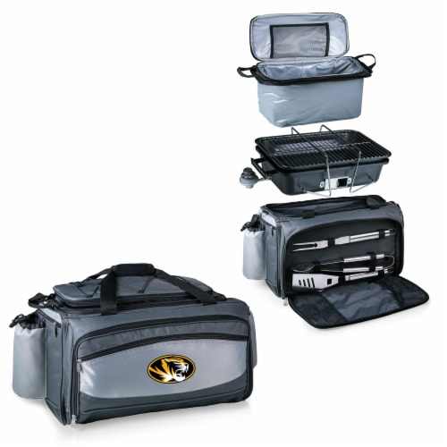 Missouri Tigers - Vulcan Portable Propane Grill & Cooler Tote Perspective: top