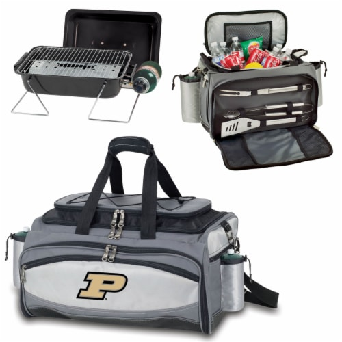 Purdue Boilermakers - Vulcan Portable Propane Grill & Cooler Tote Perspective: top