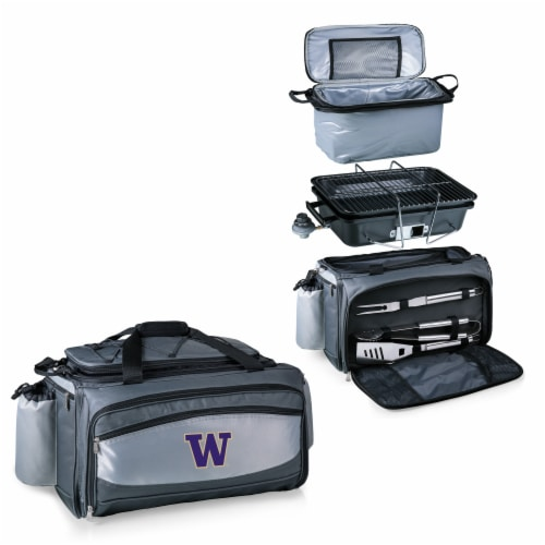 Washington Huskies - Vulcan Portable Propane Grill & Cooler Tote Perspective: top