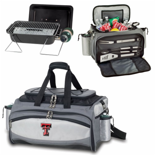 Texas Tech Red Raiders - Vulcan Portable Propane Grill & Cooler Tote Perspective: top