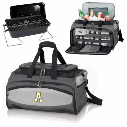 App State Mountaineers - Portable Charcoal Grill & Cooler Tote Perspective: top