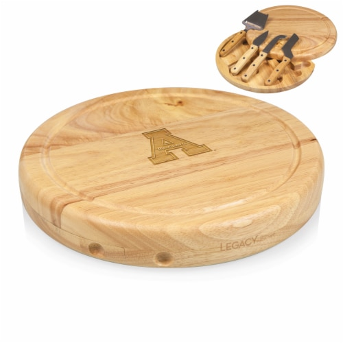 App State Mountaineers - Circo Cheese Cutting Board & Tools Set Perspective: top