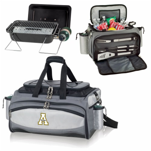 App State Mountaineers - Vulcan Portable Propane Grill & Cooler Tote Perspective: top