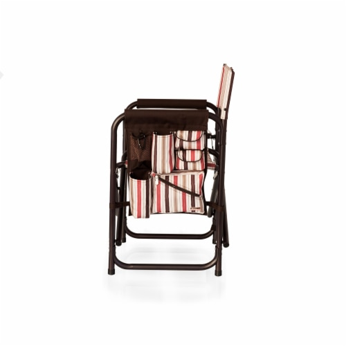 Sports Chair, Moka Collection - Brown with Beige & Red Accents Perspective: top