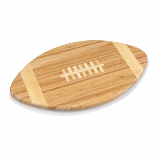 Touchdown! Football Cutting Board & Serving Tray, Bamboo Perspective: top