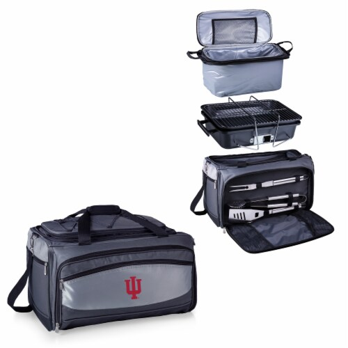 Indiana Hoosiers - Portable Charcoal Grill & Cooler Tote Perspective: top