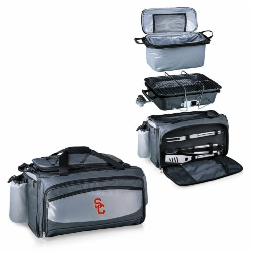 USC Trojans - Vulcan Portable Propane Grill & Cooler Tote Perspective: top