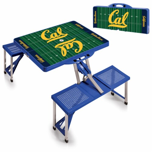 Cal Bears Portable Picnic Table Perspective: top
