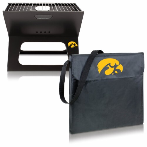 Iowa Hawkeyes - X-Grill Portable Charcoal BBQ Grill Perspective: top