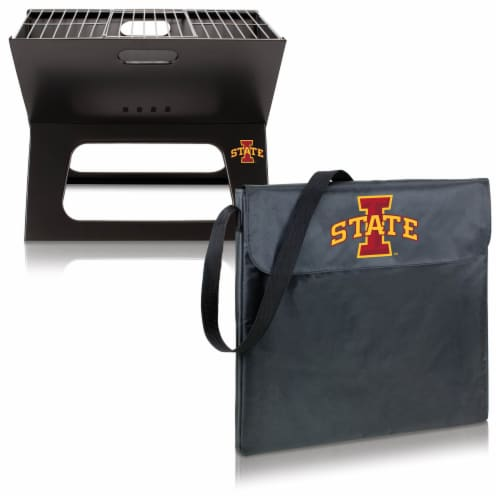 Iowa State Cyclones - X-Grill Portable Charcoal BBQ Grill Perspective: top