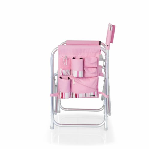 Sports Chair, Pink Stripe Perspective: top