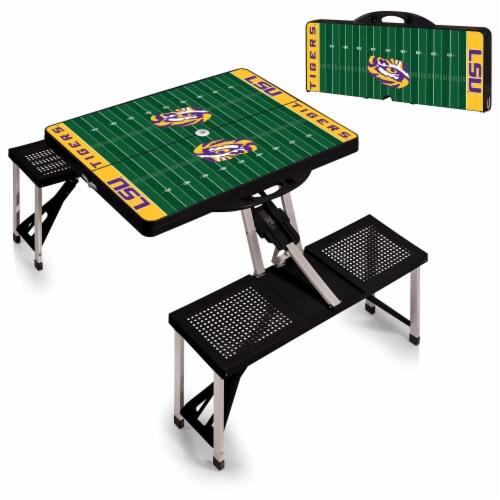 LSU Tigers Portable Picnic Table Perspective: top