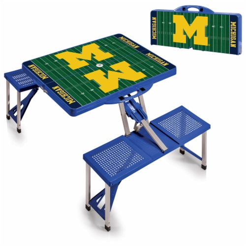 Michigan Wolverines Portable Picnic Table Perspective: top