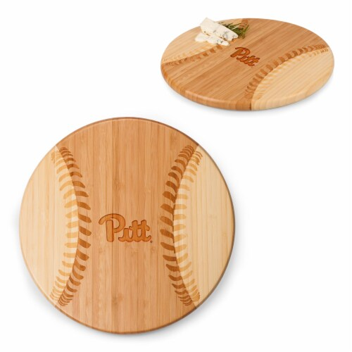 Pitt Panthers - Home Run! Baseball Cutting Board & Serving Tray Perspective: top