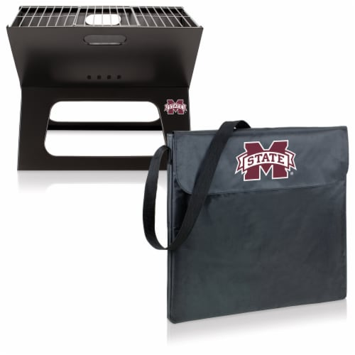 Mississippi State Bulldogs - X-Grill Portable Charcoal BBQ Grill Perspective: top