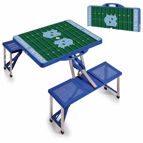 North Carolina Tar Heels Portable Picnic Table Perspective: top