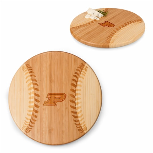 Purdue Boilermakers - Home Run! Baseball Cutting Board & Serving Tray Perspective: top