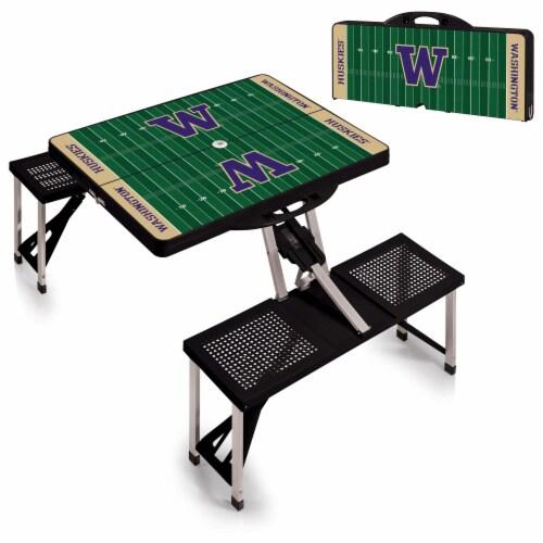 Washington Huskies Portable Picnic Table Perspective: top