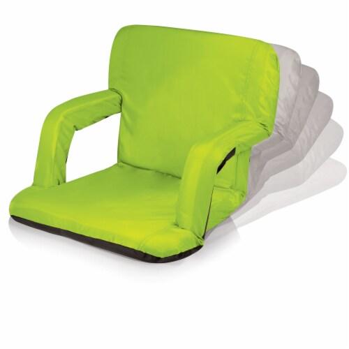 Ventura Portable Reclining Stadium Seat, Lime Green Perspective: top