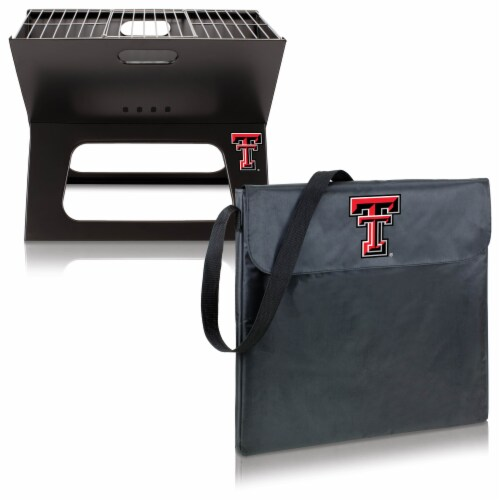 Texas Tech Red Raiders - X-Grill Portable Charcoal BBQ Grill Perspective: top