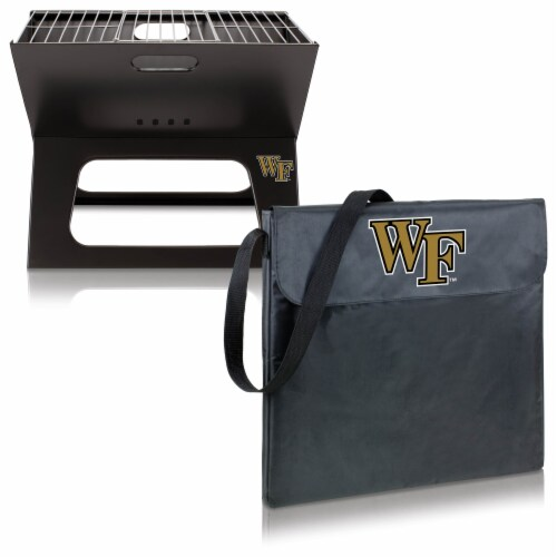 Wake Forest Demon Deacons - X-Grill Portable Charcoal BBQ Grill Perspective: top