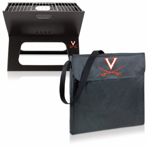 Virginia Cavaliers - X-Grill Portable Charcoal BBQ Grill Perspective: top