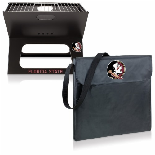 Florida State Seminoles - X-Grill Portable Charcoal BBQ Grill Perspective: top