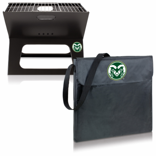 Colorado State Rams - X-Grill Portable Charcoal BBQ Grill Perspective: top