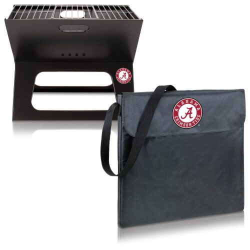 Alabama Crimson Tide - X-Grill Portable Charcoal BBQ Grill Perspective: top